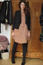 Zara boots - Zara blouse - H&M cardigan