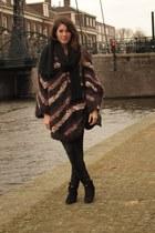 Mango boots - H&M men scarf - H&M Trend cape