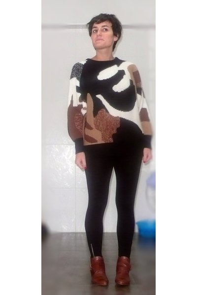 sweater - H&amp;M leggings - Topshop boots