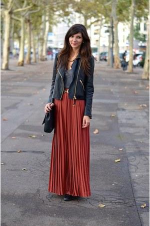 monoprix skirt - Mango jacket - Zara bag - H&M belt