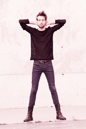Zara belt - Belmondo boots - H&M jeans - Zara jumper