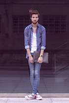 H&M t-shirt - H&M jeans - Zara shirt - Converse sneakers