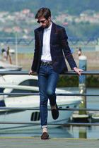 Zara blazer - H&M jeans - Zara shirt - Zara sunglasses - Zara belt