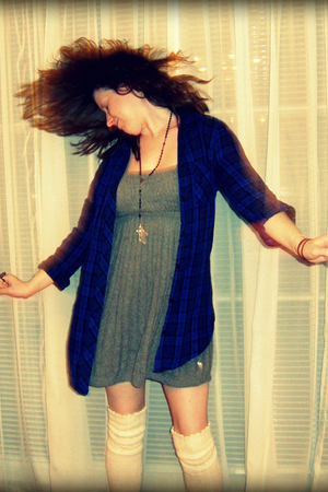 Urban Outfitters top - abercrombie and fitch dress - Urban Outfitters socks - vi