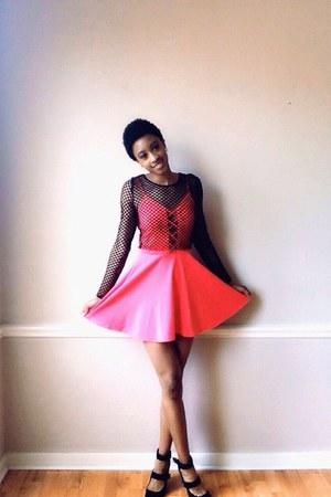 hot pink skater dress Accessorize dress