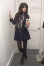 Primark jacket - vintage skirt - H&M scarf - ASH shoes