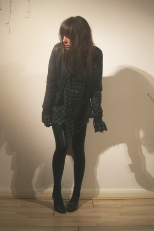 Topshop jacket - Uniqlo shirt - American Apparel tights - ASH shoes