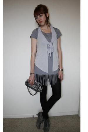 SilenceNoise vest - shirt - adrienne vittadini purse - Jeffrey Campbell shoes -
