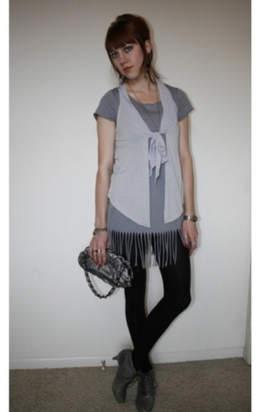SilenceNoise vest - shirt - adrienne vittadini purse - Jeffrey Campbell shoes - 