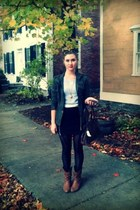 Forever 21 jacket - Forever 21 sweater - Betsey Johnson tights