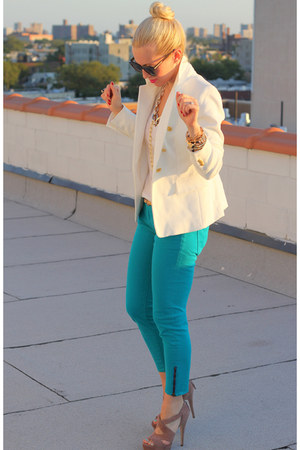 Zara blazer - Miu Miu shoes - Rich &amp; Skinny jeans