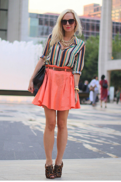 asos skirt - Mango shoes - Schutz shoes