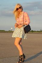 Zara skirt - Dolce Vita shoes - J Crew shirt - Elizabeth and James sunglasses