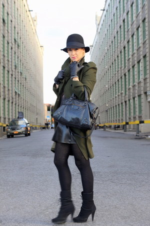 asos coat - H&M hat - asos shoes - Zara skirt