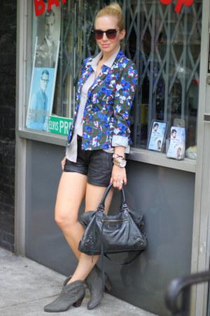 ASH boots - rachel roy blazer - leather asos shorts