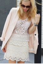 L&T skirt - H&M blazer - lace H&M shirt