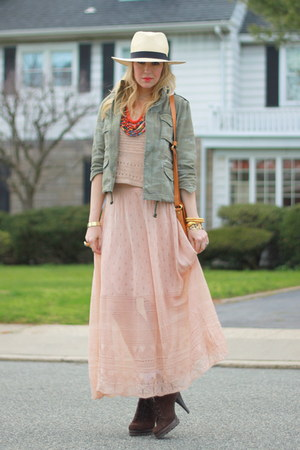 H&M hat - H&M top - Mango skirt