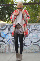 Zara coat - Madison Harding shoes - Forever 21 skirt