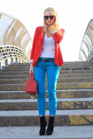 Rich & Skinny jeans - Zara blazer - Louis Vuitton bag