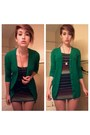 Navy-dress-green-target-cardigan-bronze-heels