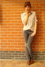 Brown-new-look-shoes-heather-gray-zara-jeans-heather-gray-h-m-shirt-blue-y