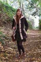 dark brown Kirilove for Vero Moda coat - brown new look shoes