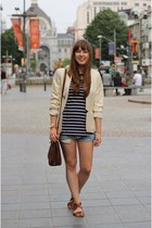 gold metallic Esprit blazer - brown square Urban Outfitters bag