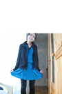 Black-uniqlo-cardigan-blue-mango-dress-black-h-m-tights-black-rayban-glass