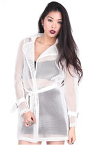 Mesh It White Trench
