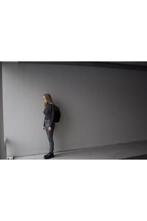 Dr Martens boots - Cheap Monday jeans - Zara sweater - Eastpack bag
