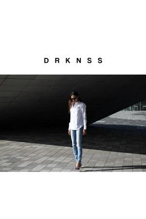 white Ralph Lauren blouse - blue Zara jeans