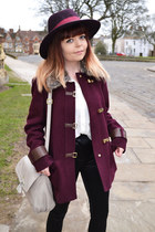crimson Primark coat - black Topshop pants