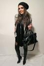 Black-just-female-top-silver-zara-blazer-black-zara-boots-black-zara-purse