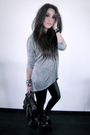 Silver-h-m-sweater-black-zara-boots-black-zara-purse-black-topshop-pants