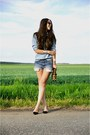 Black-zara-shoes-sky-blue-denim-zara-shorts-sky-blue-denim-zara-blouse