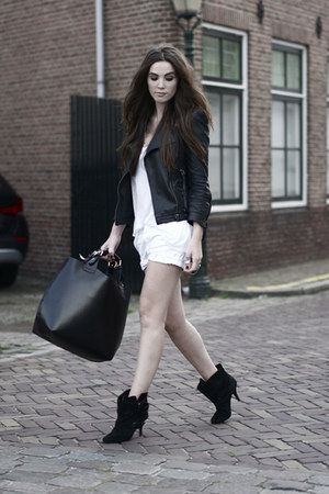 black leather Zara jacket - black buckle Givenchy boots