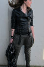 Black-zara-boots-green-zara-pants-black-zara-jacket-black-zara