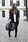 Black-overknee-boots-black-zara-coat-white-t-shirt-black-leather-pants
