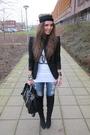 Black-zara-blazer-white-zoe-karssen-t-shirt-blue-only-jeans-black-zara-boo