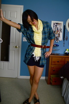 A&F Mens shirt - Old Navy scarf - Kenneth Cole belt - forever 21 shorts - Frye s