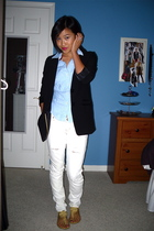 H&M blazer - abercrombie and fitch shirt - American Eagle jeans - Gap shoes - Ti