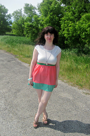 pink OASAP dress - camel Blowfish shoes - sky blue vintage bracelet