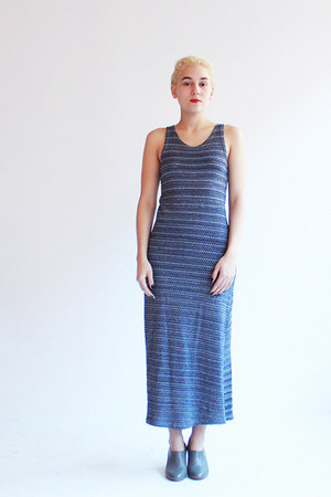 striped maxi Caesar Pony vintage dress
