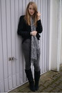 Black-zara-jacket-gray-primark-scarf-gray-cheap-monday-jeans-black-primark