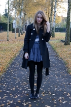 Zara coat - H&M shirt - Zara Kids skirt - Topshop shoes