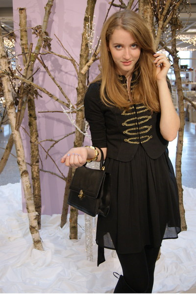 H&M jacket - Urban Outfitters dress - vintage accessories - Zara shoes