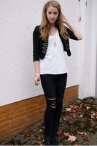 H&M jacket - Zara shirt - Cheap Monday pants - H&M shoes
