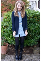 vintage blazer - H&M shirt - Zara belt - vintage boots
