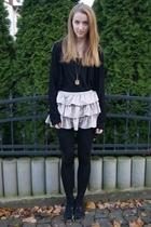 H&M top - Zara jacket - Accesorize accessories - H&M skirt - Topshop shoes