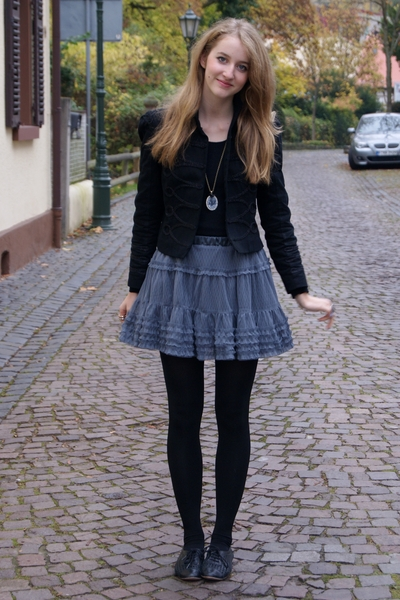 Zara jacket - Zara Kids skirt - Topshop shoes